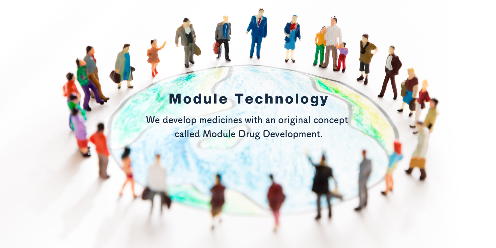 "「Module Technology」-""Web develop medicines with an original concept called Module Drug Development."""